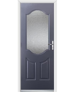 Ultimate Georgia Rockdoor in Anthracite Grey with Gluechip Glazing