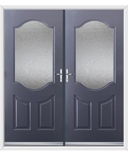 Georgia French Rockdoor in Anthracite Grey with Gluechip Glazing