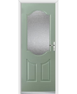 Ultimate Georgia Rockdoor in Chartwell Green with Gluechip Glazing