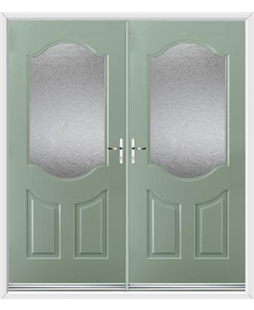 Georgia French Rockdoor in Chartwell Green with Gluechip Glazing