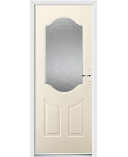 Ultimate Georgia Rockdoor in Cream with Gluechip Glazing