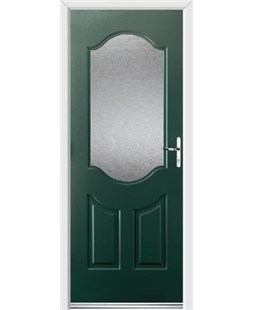 Ultimate Georgia Rockdoor in Emerald Green with Gluechip Glazing