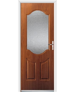 Ultimate Georgia Rockdoor in Light Oak with Gluechip Glazing