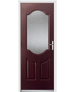Ultimate Georgia Rockdoor in Mahogany with Gluechip Glazing