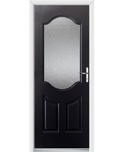 Ultimate Georgia Rockdoor in Onyx Black with Gluechip Glazing