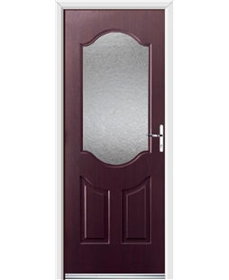 Ultimate Georgia Rockdoor in Rosewood with Gluechip Glazing