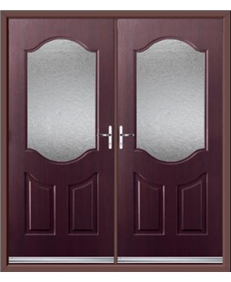 Georgia French Rockdoor in Rosewood with Gluechip Glazing