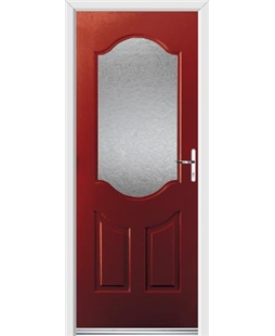 Ultimate Georgia Rockdoor in Ruby Red with Gluechip Glazing