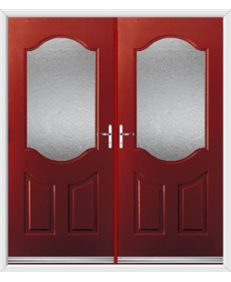 Georgia French Rockdoor in Ruby Red with Gluechip Glazing