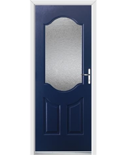 Ultimate Georgia Rockdoor in Sapphire Blue with Gluechip Glazing