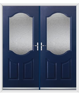 Georgia French Rockdoor in Sapphire Blue with Gluechip Glazing