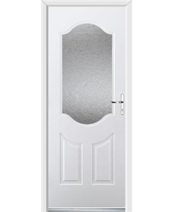 Ultimate Georgia Rockdoor in White with Gluechip Glazing