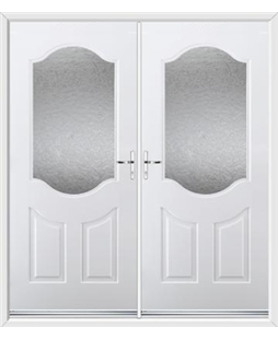 Georgia French Rockdoor in White with Gluechip Glazing