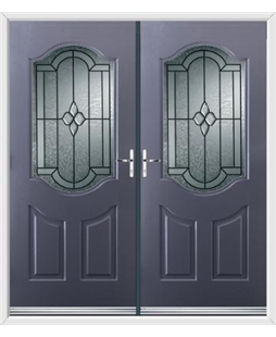 Georgia French Rockdoor in Anthracite Grey with Northern Star