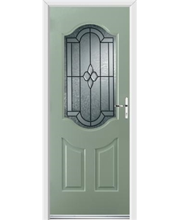 Ultimate Georgia Rockdoor in Chartwell Green with Northern Star Glazing