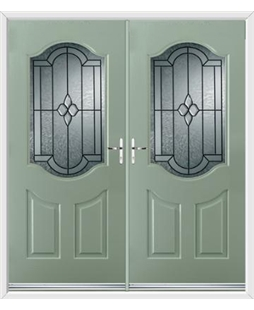 Georgia French Rockdoor in Chartwell Green with Northern Star