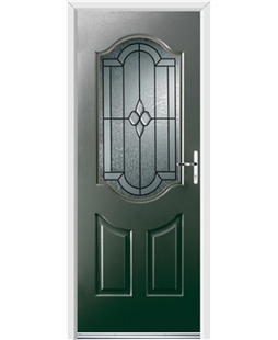 Ultimate Georgia Rockdoor in Emerald Green with Northern Star Glazing