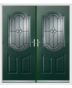 Georgia French Rockdoor in Emerald Green with Northern Star