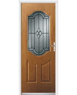 Ultimate Georgia Rockdoor in Irish Oak with Northern Star Glazing
