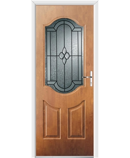 Ultimate Georgia Rockdoor in Light Oak with Northern Star Glazing