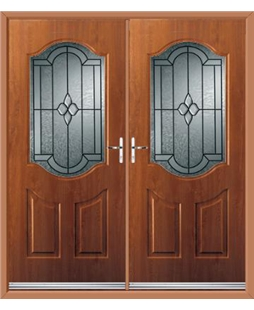 Georgia French Rockdoor in Light Oak with Northern Star