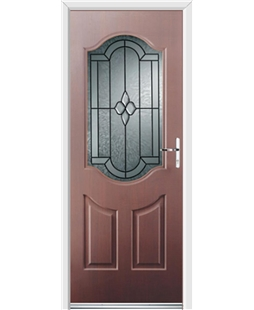 Ultimate Georgia Rockdoor in Mahogany with Northern Star
