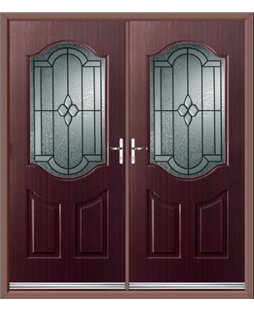 Georgia French Rockdoor in Mahogany with Northern Star