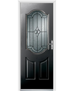 Ultimate Georgia Rockdoor in Onyx Black with Northern Star Glazing