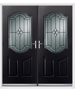 Georgia French Rockdoor in Onyx Black with Northern Star