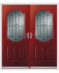 Georgia French Rockdoor in Ruby Red with Northern Star