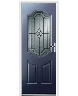Ultimate Georgia Rockdoor in Sapphire Blue with Northern Star Glazing
