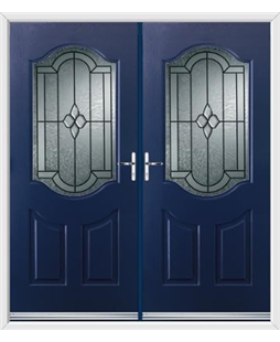 Georgia French Rockdoor in Sapphire Blue with Northern Star