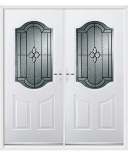 Georgia French Rockdoor in White with Northern Star