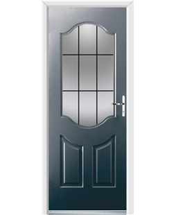 Ultimate Georgia Rockdoor in Anthracite Grey with Square Lead