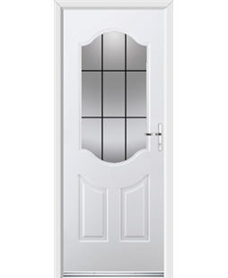 Ultimate Georgia Rockdoor in Blue White with Square Lead