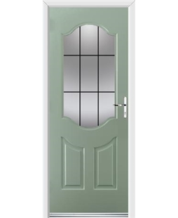 Ultimate Georgia Rockdoor in Chartwell Green with Square Lead