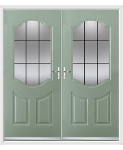 Georgia French Rockdoor in Chartwell Green with Square Lead