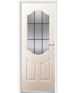 Ultimate Georgia Rockdoor in Cream with Square Lead