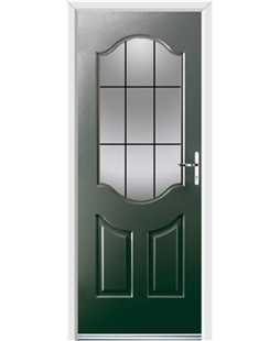 Ultimate Georgia Rockdoor in Emerald Green with Square Lead