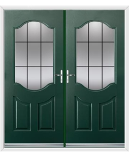 Georgia French Rockdoor in Emerald Green with Square Lead