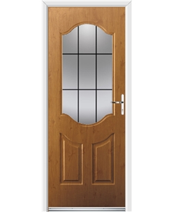 Ultimate Georgia Rockdoor in Irish Oak with Square Lead