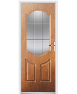 Ultimate Georgia Rockdoor in Light Oak with Square Lead