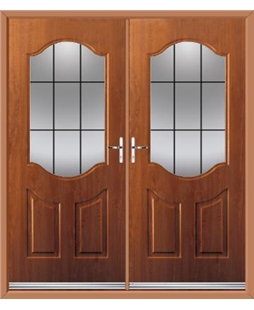 Georgia French Rockdoor in Light Oak with Square Lead