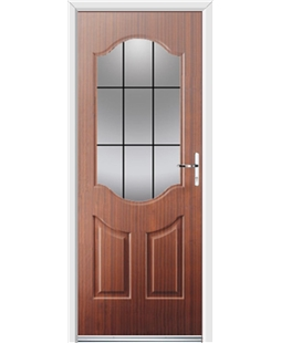 Ultimate Georgia Rockdoor in Mahogany with Square Lead