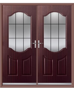 Georgia French Rockdoor in Mahogany with Square Lead