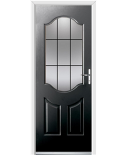 Ultimate Georgia Rockdoor in Onyx Black with Square Lead