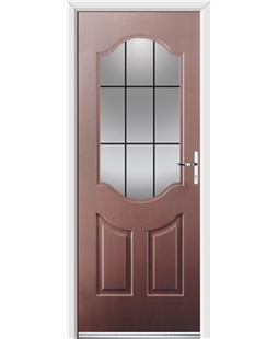 Ultimate Georgia Rockdoor in Rosewood with Square Lead