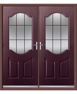 Georgia French Rockdoor in Rosewood with Square Lead