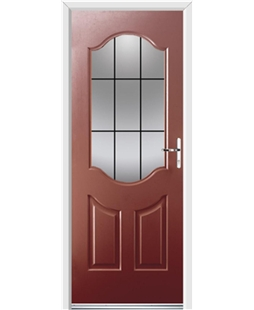Ultimate Georgia Rockdoor in Ruby Red with Square Lead