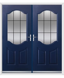 Georgia French Rockdoor in Sapphire Blue with Square Lead